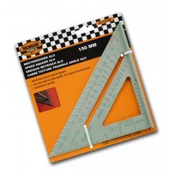 Solid geodriehoek und Lineal (Aluminium), 150mm