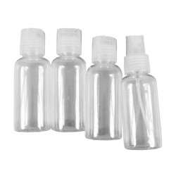 Set travel bottles (4 pieces) with caps