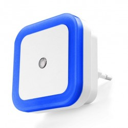 Nightlight with light sensor (220v, square, blue)