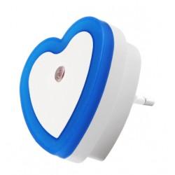 Nachtlampje met lichtsensor 220v (hart, blauw)