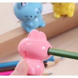 Fröhliche Bleistiftspitzer Katze, blau