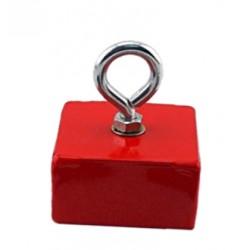 Magneethaak / haakmagneet, rood, met oog