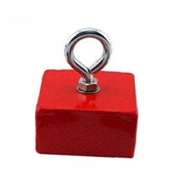 Magnet hook / hook magnet red, with eye