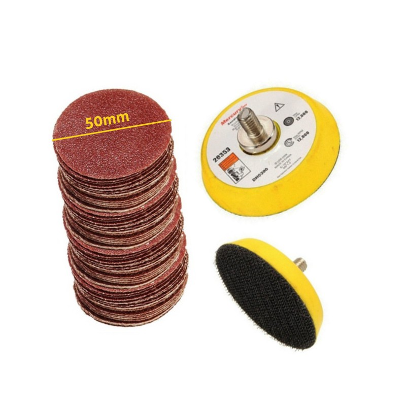 10 schuurschijfjes (50mm) klittenband, korrel 1200