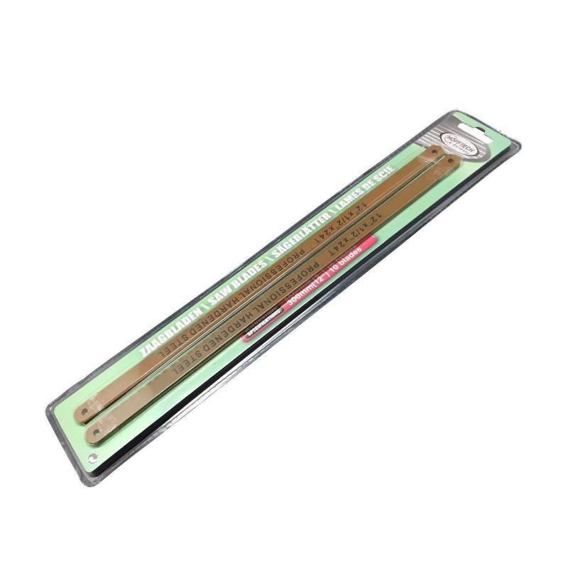 Set metaalzaagbladen, 10 stuks, 300mm, 24 tpi
