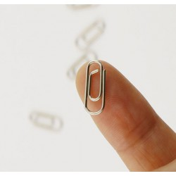 Micro paper clips (75 pcs), 15*5.6mm