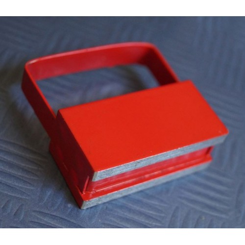 Magnet hook / hook magnet red, with grip