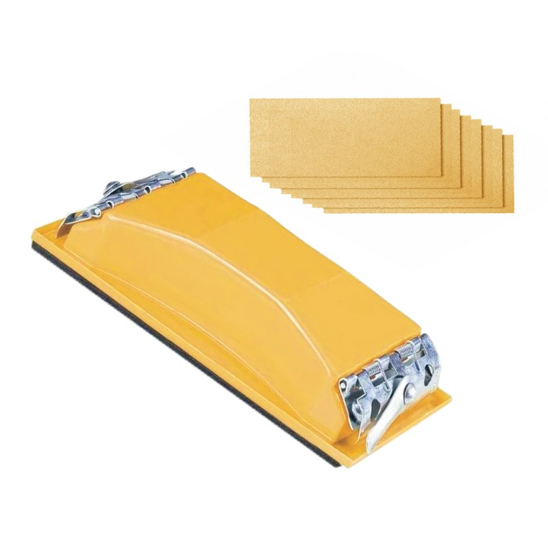 Sanding block with 8 sheets of sandpaper