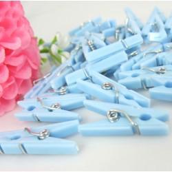 100 pieces pink mini clothes pins plastic (9x25 mm)