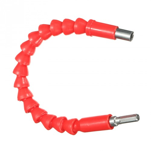 Flexible hex bits extension 30 cm, red