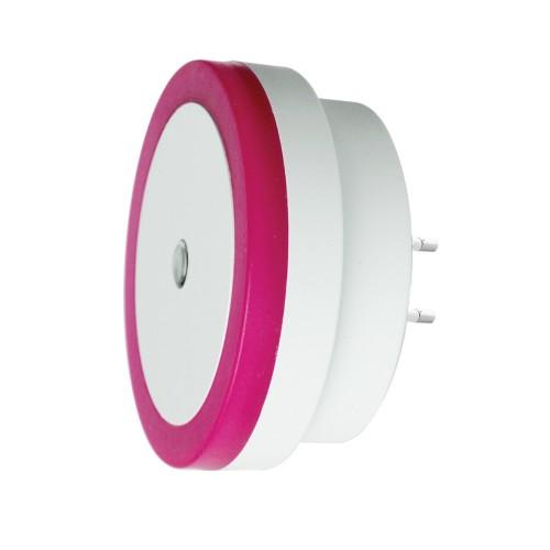 Nightlight with light sensor (220v, round, purple)