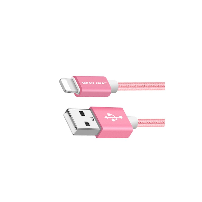 Lightning USB cable for iPhone, 50 cm, for ladies: pink