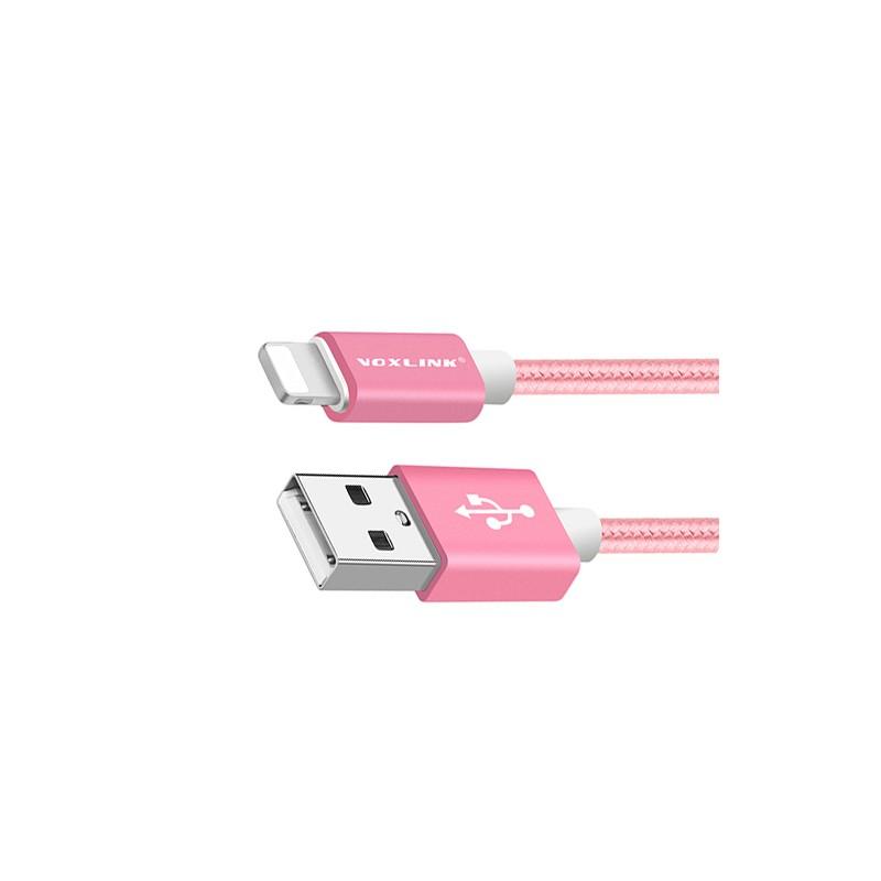 Lightning USB kabel voor iPhone, 50 cm, voor dames: roze