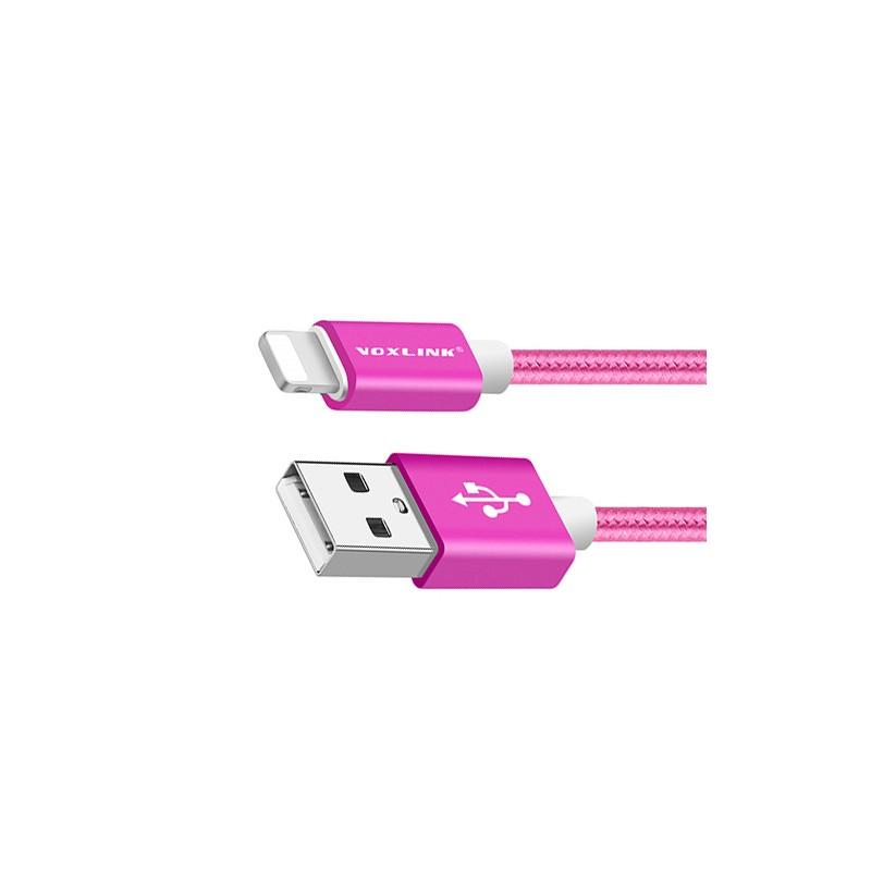 Lightning USB kabel iPhone, 50 cm, voor dames: paars