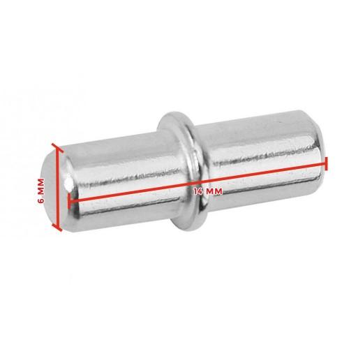 Shelf support metal pin, 6x14mm