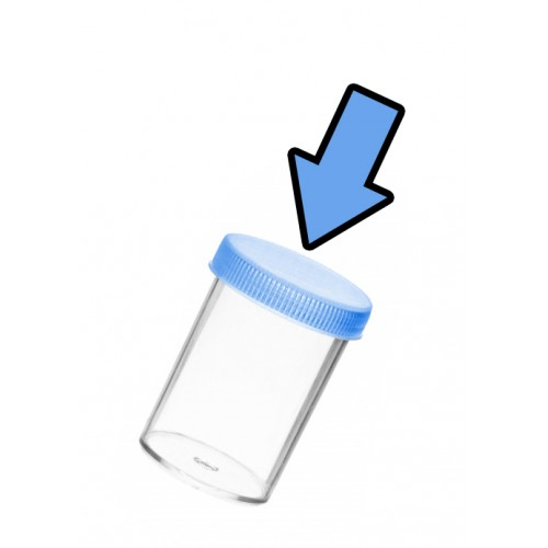 Set screw caps for 20 ml sample containers