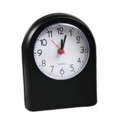 Analoger Reisealarm mit Alarm, schwarz (Batterie)