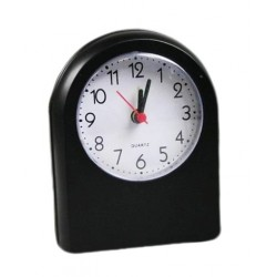 Travel alarm clock, black (battery powered)