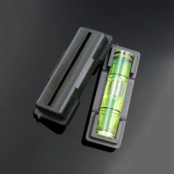 Waterpas (libel) zwart, plastic behuizing