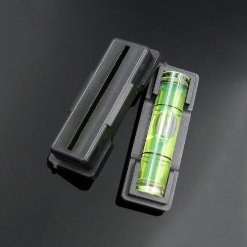 Wasserwaage (Fläschchen) schwarz, Kunststoffgehäuse
