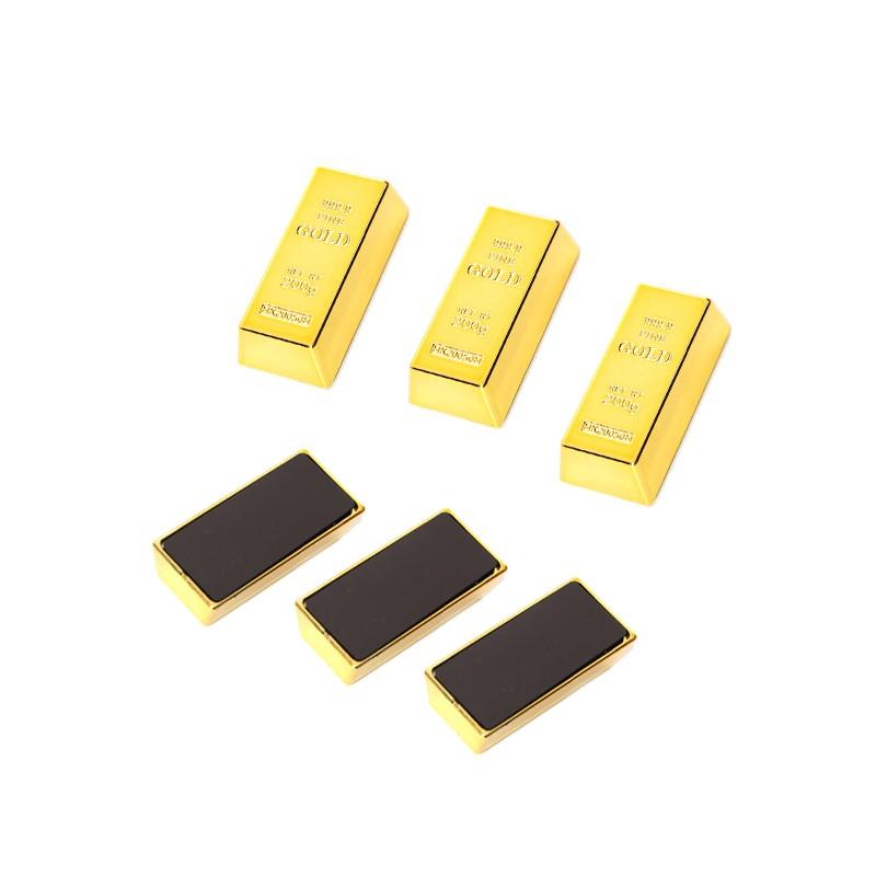 3 x gold bar fridge magnet