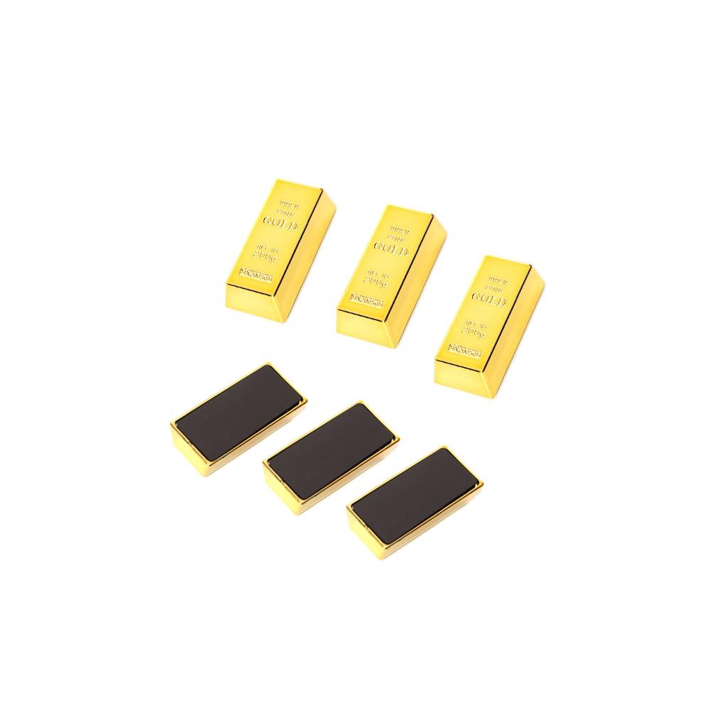 3 x mini goldbarren magnet f r k hlschrank wood and tools. Black Bedroom Furniture Sets. Home Design Ideas