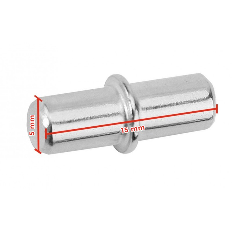 Shelf support metal pin, 5x15mm