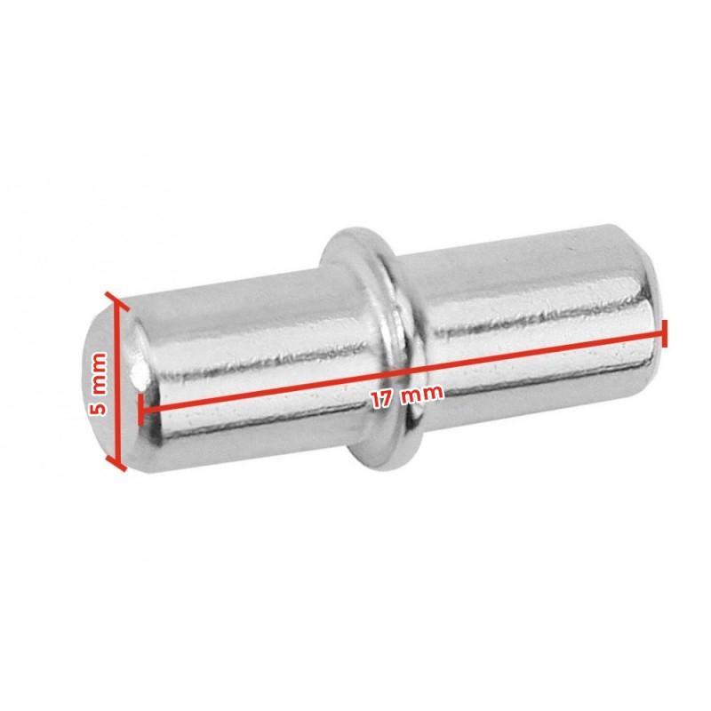 Shelf support metal pin, 5x17mm