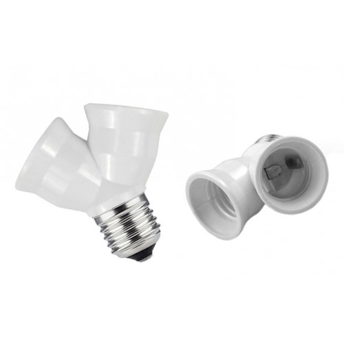 Lighting socket adapter e27 to 2 x e27, type CD