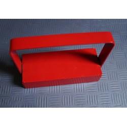 Magnetischer Haken / Hakenmagnet XL, rot, mit Griff