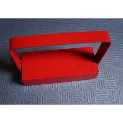 Magnetischer Haken / Hakenmagnet XL, rot, mit Handgriff