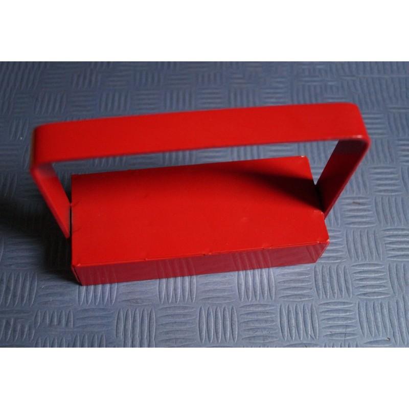Magneethaak / haakmagneet XL, rood, met handvat