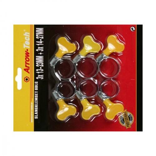 6 piece set of hose clamps