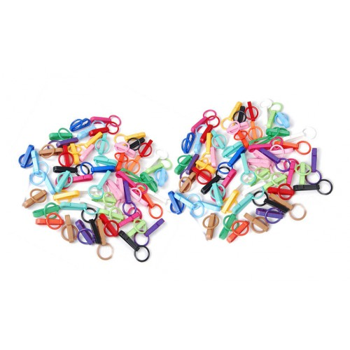 colorful plastic key rings (50 pieces)