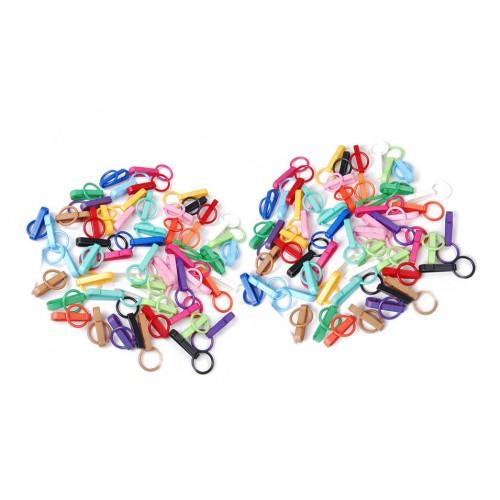 Zakje gekleurde sleutelhanger gespen (50 stuks)