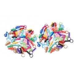 Colorful plastic key rings (10 pieces)