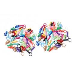 Zakje gekleurde sleutelhanger gespen (10 stuks)