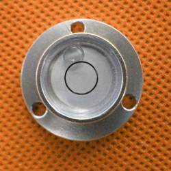 Waterpas in zilveren, metalen behuizing
