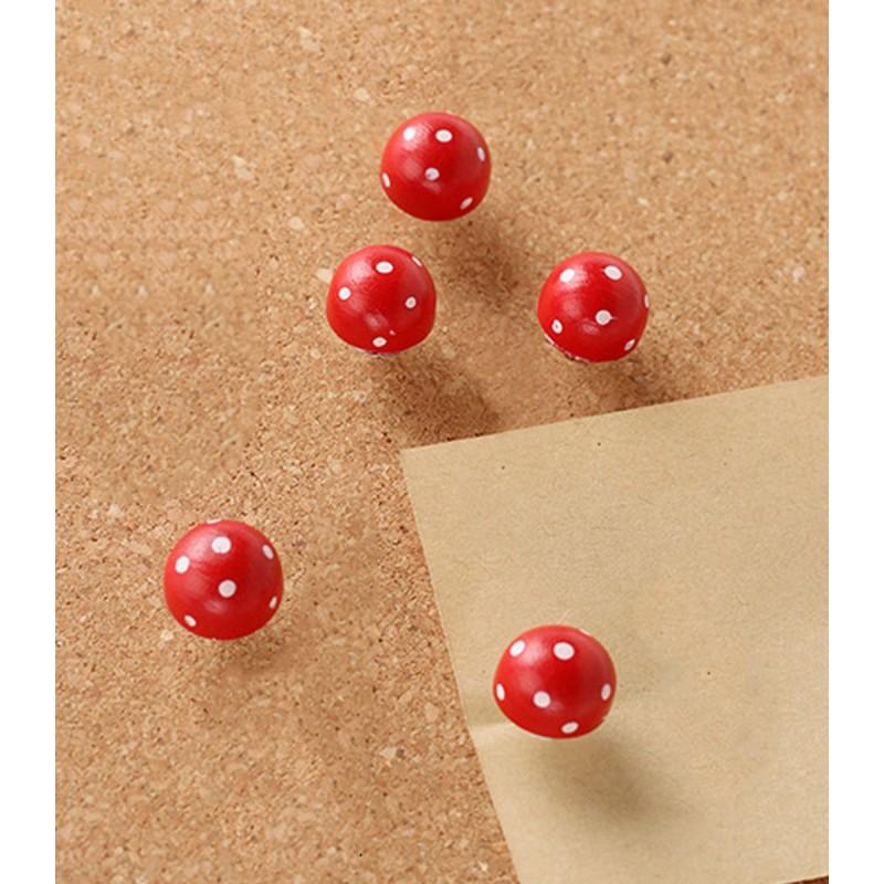Push pin mushroom