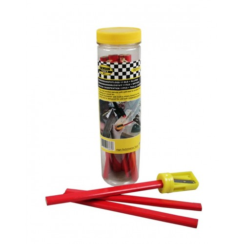 Set carpenters pencils (11 pieces) plus sharpener
