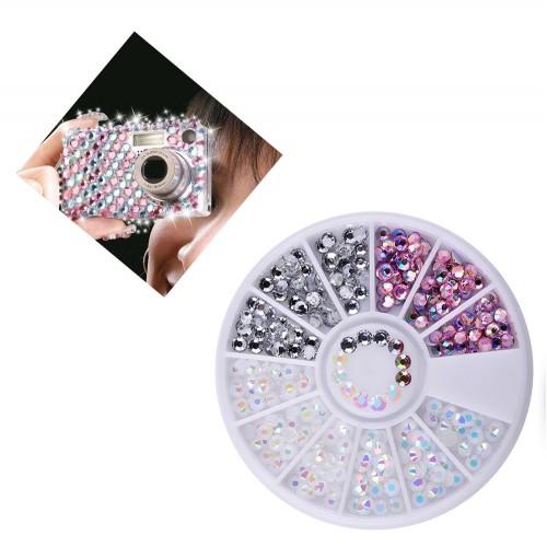 3D decoratie steentjes in een doosje (diamantjes)