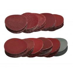 Ruime set schuurschijfjes (50mm), 100 stuks