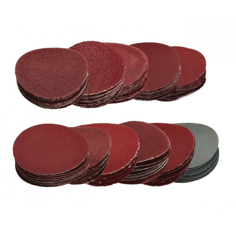Large set of sanding discs (50mm, 100 pieces)
