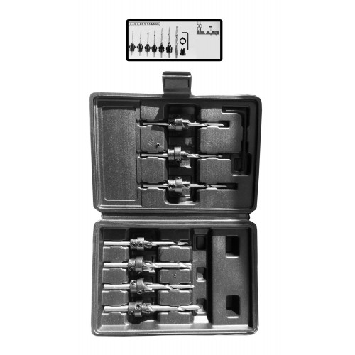 7-piece set of HSS countersink drills for wood