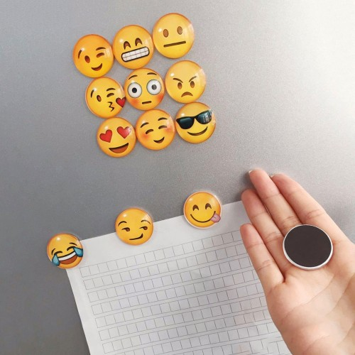 Set of 13 pieces of emoticons refrigerator magnets