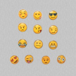Set mit 13 Emoticons Kühlschrankmagneten