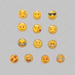 Set van 13 stuks emoticons koelkastmagneten