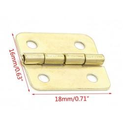 10 kleine Kupferscharniere, 18x16mm