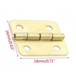 Set of 10 pieces small copper hinges (18x16mm)
