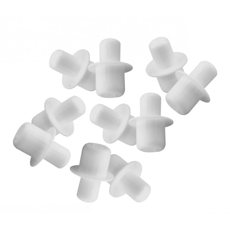 Shelf supports (96 pieces), plastic pins, 5 and 6 mm diameter